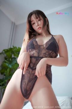 [秀人网XiuRen] N01252 人气圆润白皙国模王雨纯优美黑色蕾丝情趣内衣连体风情惊艳写真 48P