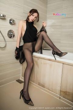 [秀人网XiuRen] N01556 瓜子脸苗条美腿技师周于希Sandy浴室无内黑丝情趣诱惑写真 56P