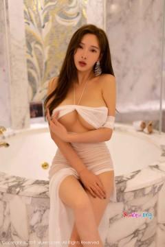 [秀人网XiuRen] N01575 勾魂细腰国模土肥圆矮浴室湿身透视白色长裙火辣风骚写真 48P