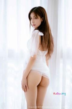 [秀人网XiuRen] N01914 乖巧仙气美臀嫩妹林文文yooki治愈白色薄纱性感T裤美艳写真 62P