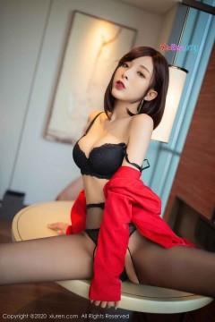 [秀人网XiuRen] N02480 冷艳御姐范短发优雅女郎陈小喵室内开档黑丝垂涎情欲私拍 80P