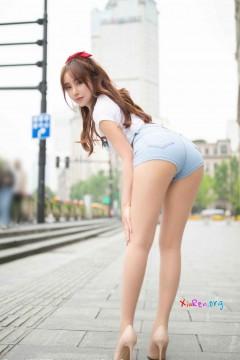 [秀人网XiuRen] N02547 养眼蜜桃臀美女陶喜乐_lele户外肉丝紧牛热裤火爆迷人写真 63P